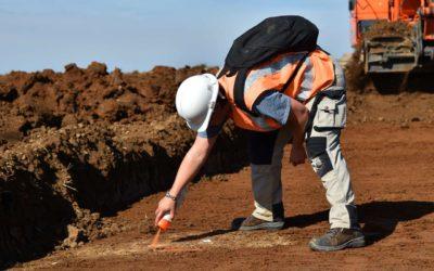 Un diagnostic d'archéologie préventive en cours de réalisation